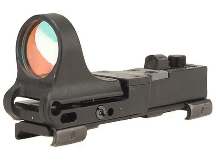 C-More Railway Reflex Sight 8 MOA Red Dot with Click Switch and Integral Picatinny Mount Polymer Matte