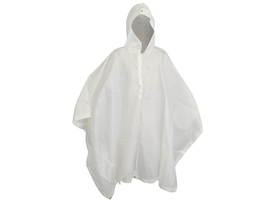 Military Surplus Swiss Snow Poncho Nylon White