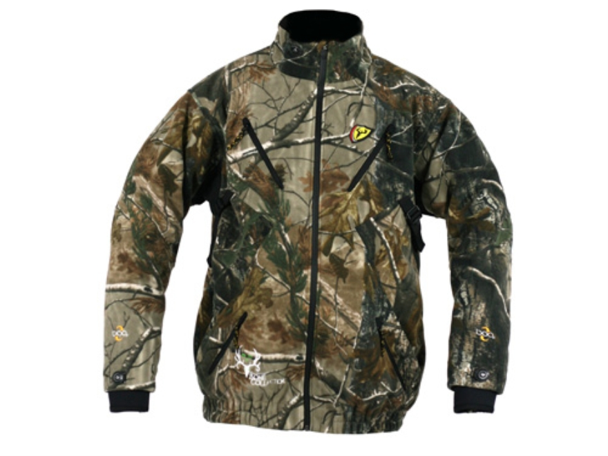ScentBlocker Men's Mack Daddy Pro Fleece Jacket Polyester Realtree AP Camo Large 42-44