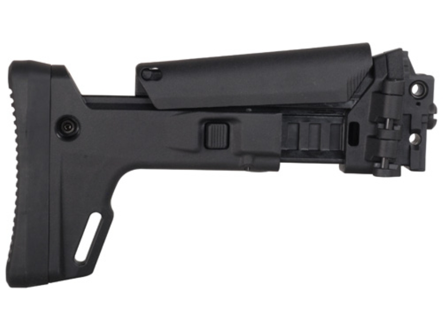 Bushmaster Enhanced 7-Position Telescoping Side Folding Buttstock Bushmaster ACR Synthetic Black