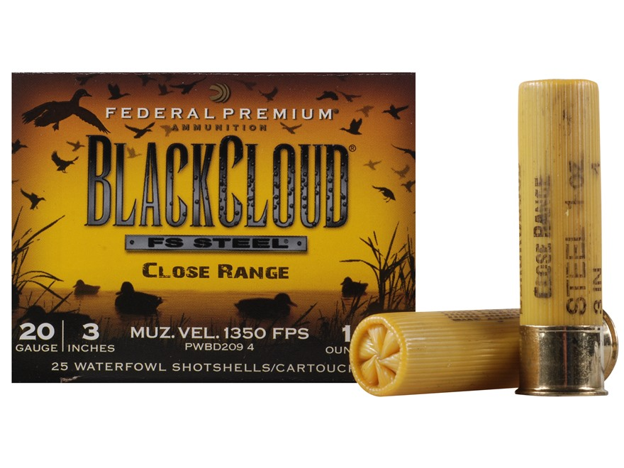 "Federal Premium Black Cloud Close Range Ammunition 20 Gauge 3"" 1 oz  #4 Non-Toxic Fligh..."