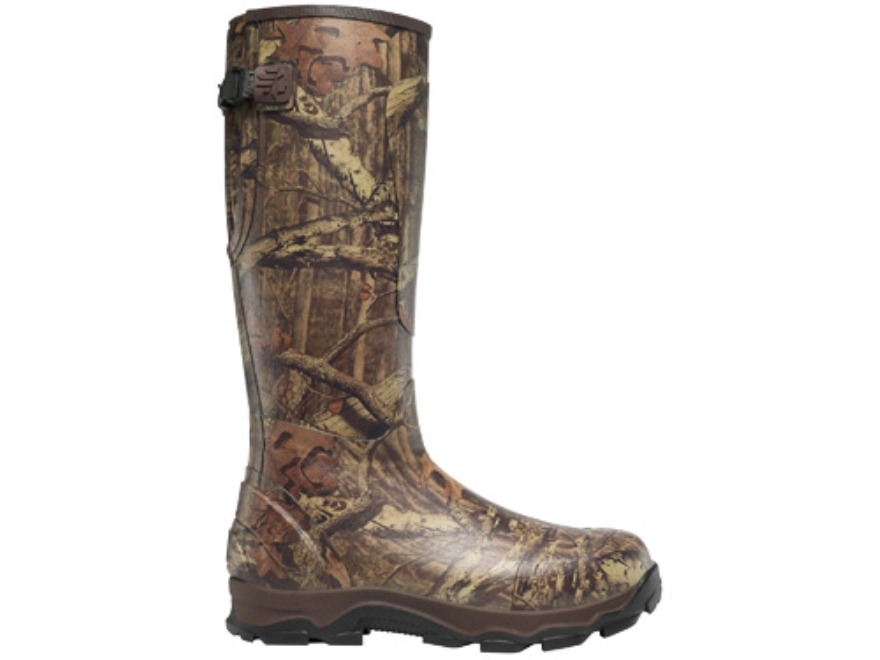 "LaCrosse 4XBurly 18"" Waterproof 800 Gram Insulated Hunting Boots Rubber Clad Neoprene Mossy Oak Break-Up Infinity Camo Men's 6 D"