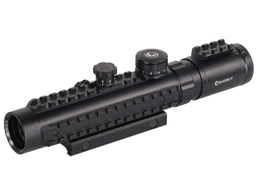 Barska Electro Sight Red Dot Sight 1-3x 30mm Red Cross Reticle with Integral Weaver-Style Mount Matte