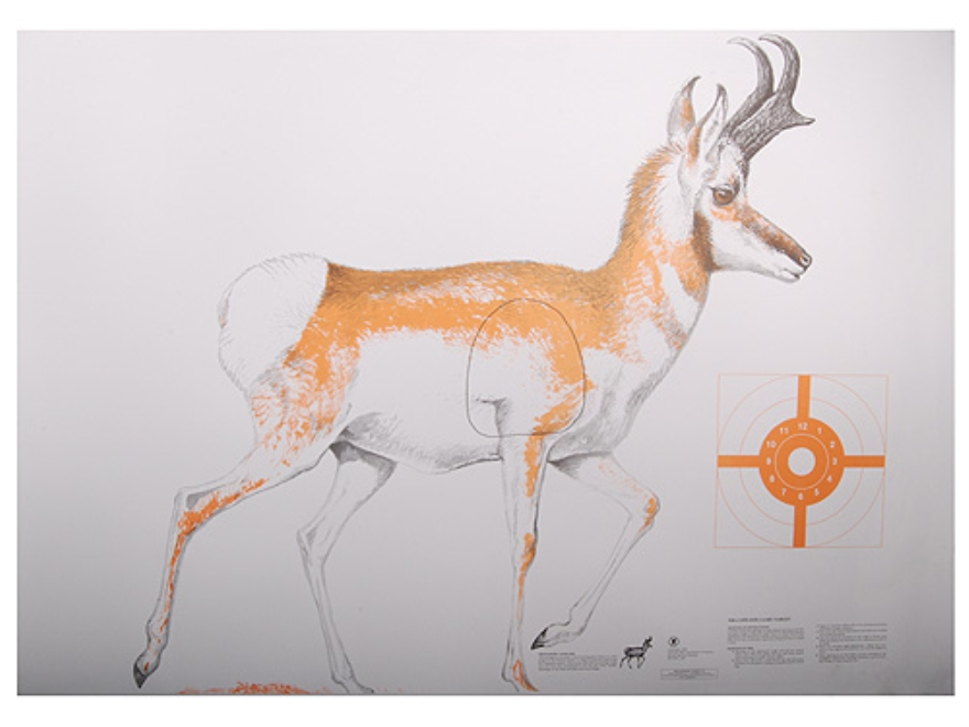 NRA Official Lifesize Game Targets Antelope Paper Package of 12
