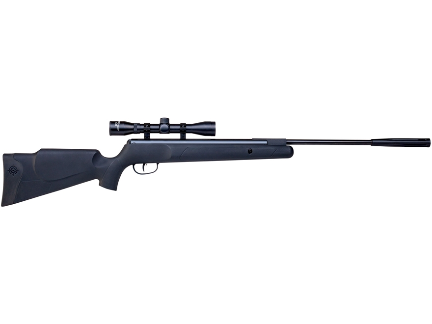 Crosman Fury Nitro Piston Break Barrel Air Rifle 177 Caliber Pellet Black Synthetic Stock Matte Barrel with 4x32mm Scope