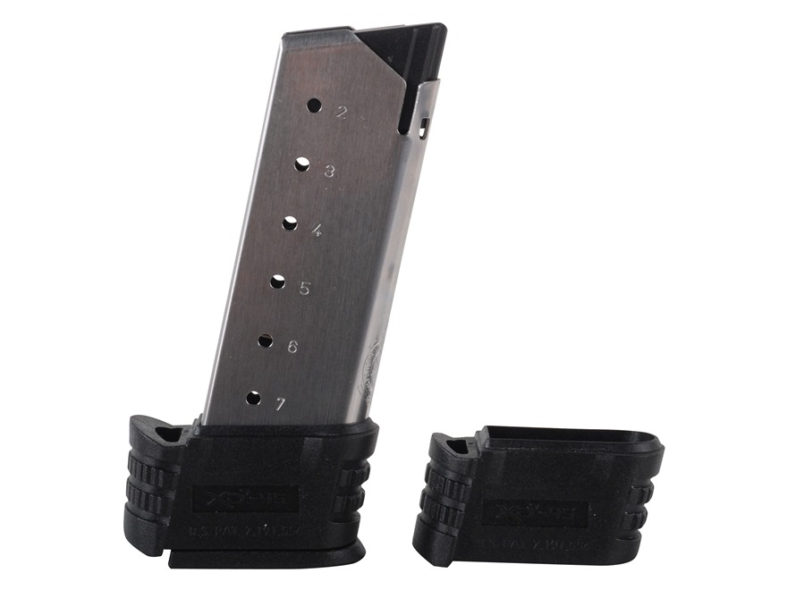 Springfield Armory Magazine Springfield XDS 45 ACP 7-Round Stainless Steel with X-Tensions Size 1 and 2