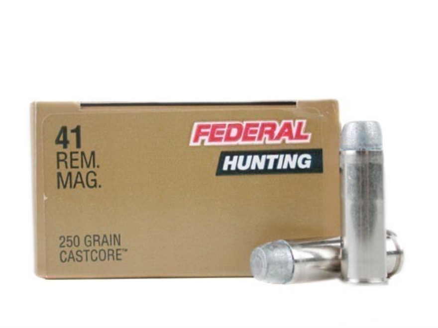 Federal Premium Hunting Ammunition 41 Remington Magnum 250 Grain CastCore Lead Flat Poi...