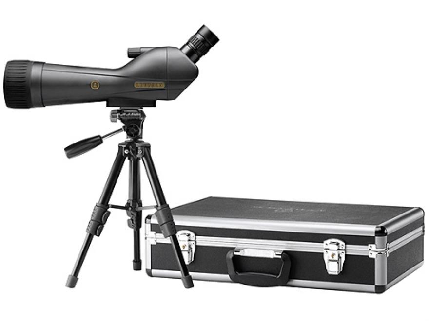 Leupold SX-1 Ventana Spotting Scope 20-60x 80mm Angled Body Armored Black with Tripod, Hard and Soft Case