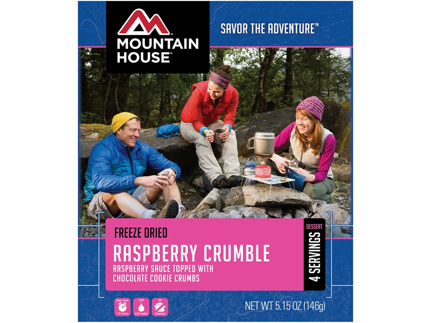 Mountain House Raspberry Crumble Freeze Dried Food 4 Servings