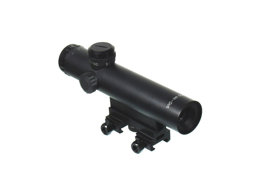 Leapers UTG Model 4/15 Rifle Scope 4x 20mm Mil-Dot Reticle with Carry Handle and Flat Top Mount Matte