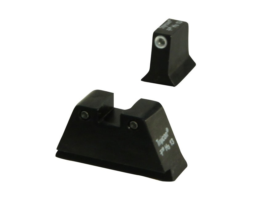Trijicon Suppressor Night Sight Set Glock 17, 17L, 19, 22, 23, 24, 25, 26, 27, 28, 31, 32, 33, 34, 35, 37, 38 3-Dot Tritium