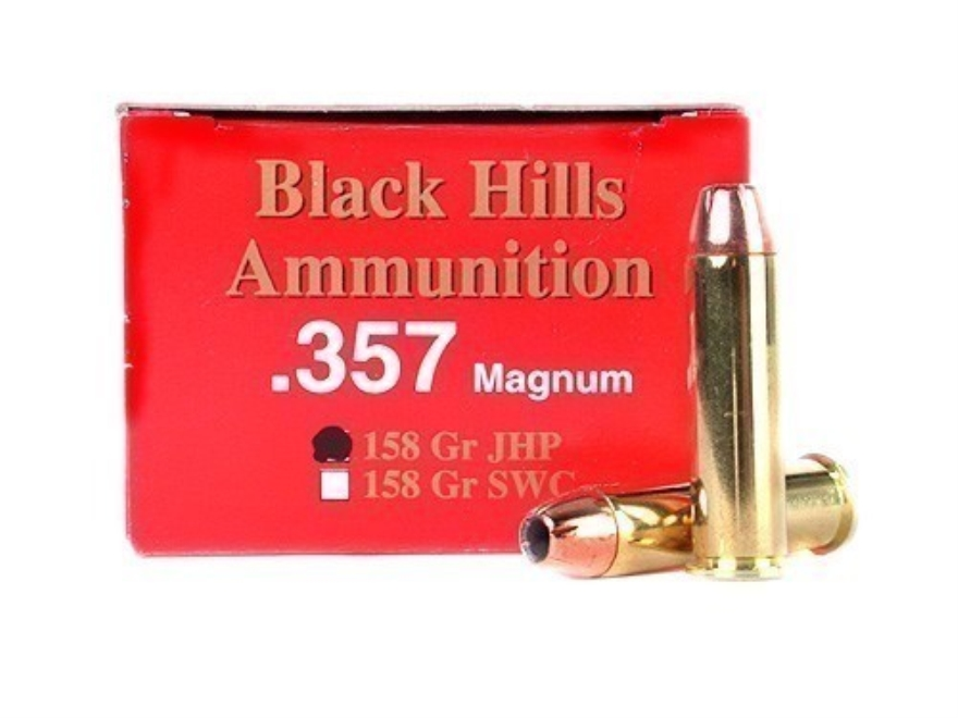 Black Hills Ammunition 357 Magnum 158 Grain Jacketed Hollow Point Box of 50
