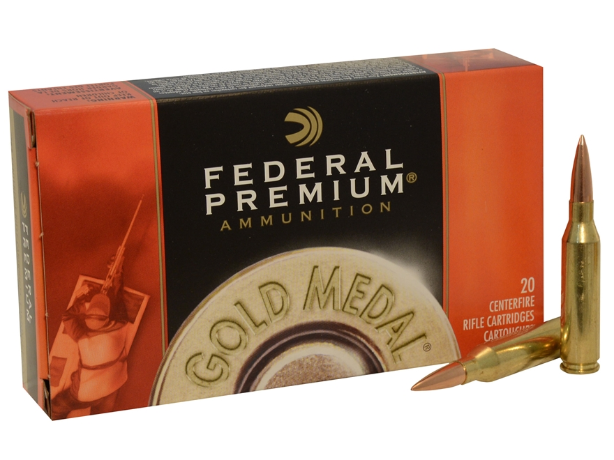 Federal Premium Gold Medal Ammunition 260 Remington 142 Grain Sierra MatchKing Hollow Point Boat Tail Box of 20