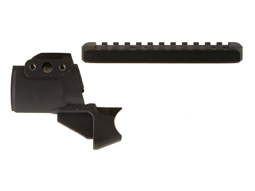 Mesa Tactical High Tube Telescoping Stock Adapter with Receiver Picatinny Optic Rail Mossberg 500, 590, 835 Aluminum Matte