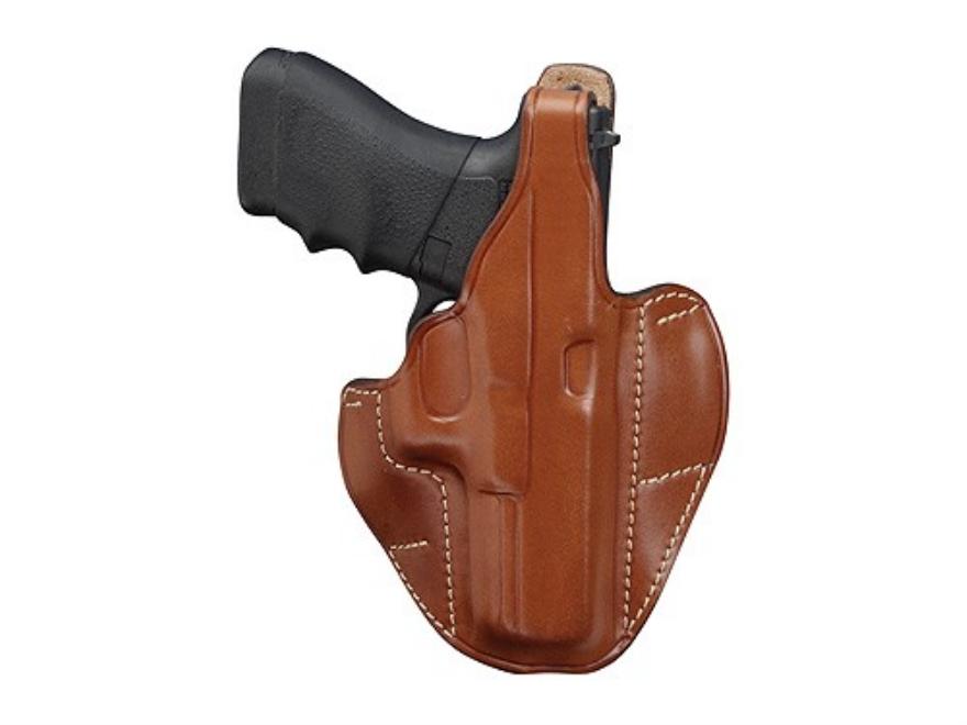 "Hunter 5300 Pro-Hide 2-Slot Pancake Holster Right Hand 4"" Barrel Glock 19, 23 Leather Brown"