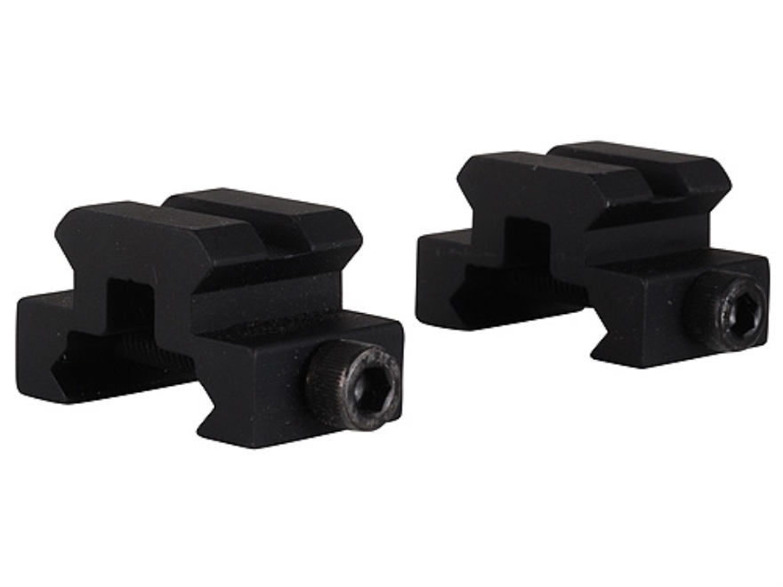 "Remington Picatinny-Style Mini Riser Mount 3/4"" Long 1/2"" Tall Aluminum Black Package of 2"