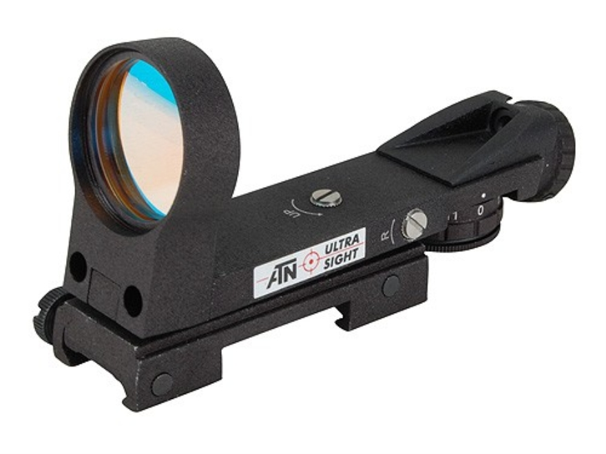 ATN Ultra Reflex Red Dot Sight 33mm Heads Up Display 4-Pattern Reticle (2 MOA Dot, Cros...