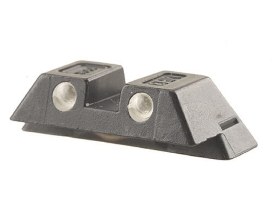 """Glock Rear Sight 6.5mm .256"""" Height Steel Black Tritium"""