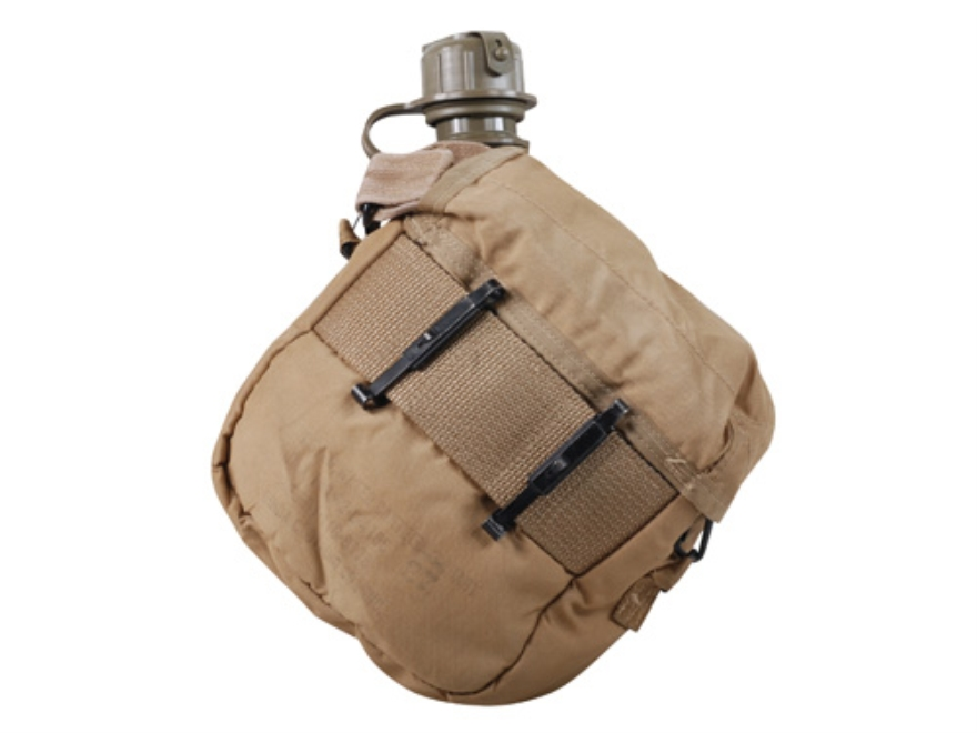 Military Surplus 2-Quart Canteen with M1 NBC Cap, Desert Tan Cover and Carry Strap