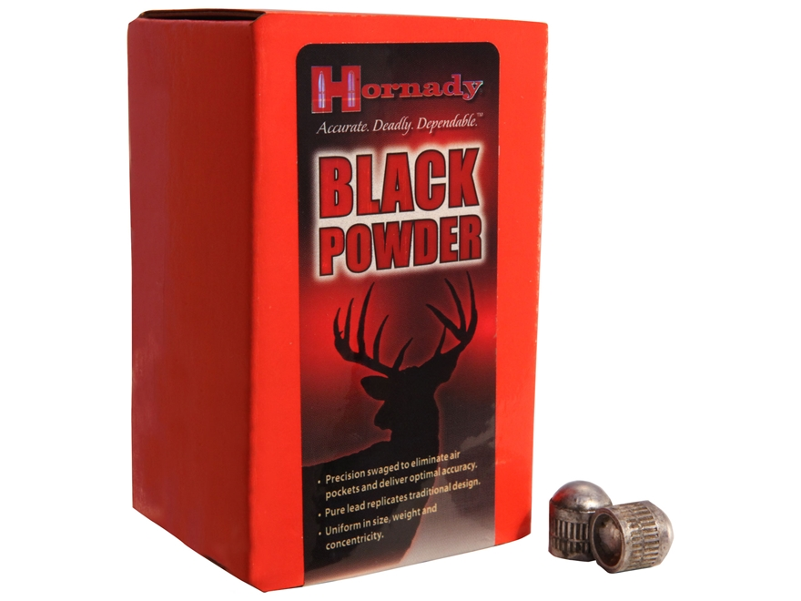 Hornady Pennsylvania Conical Muzzleloading Bullets 50 Caliber (512 Diameter) 240 Grain ...