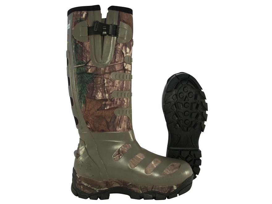 "Banded 17"" Waterproof Breathable 800 Gram Insulated Hunting Boots Nylon and Rubber Realtree Xtra Camo Men's 10 D"
