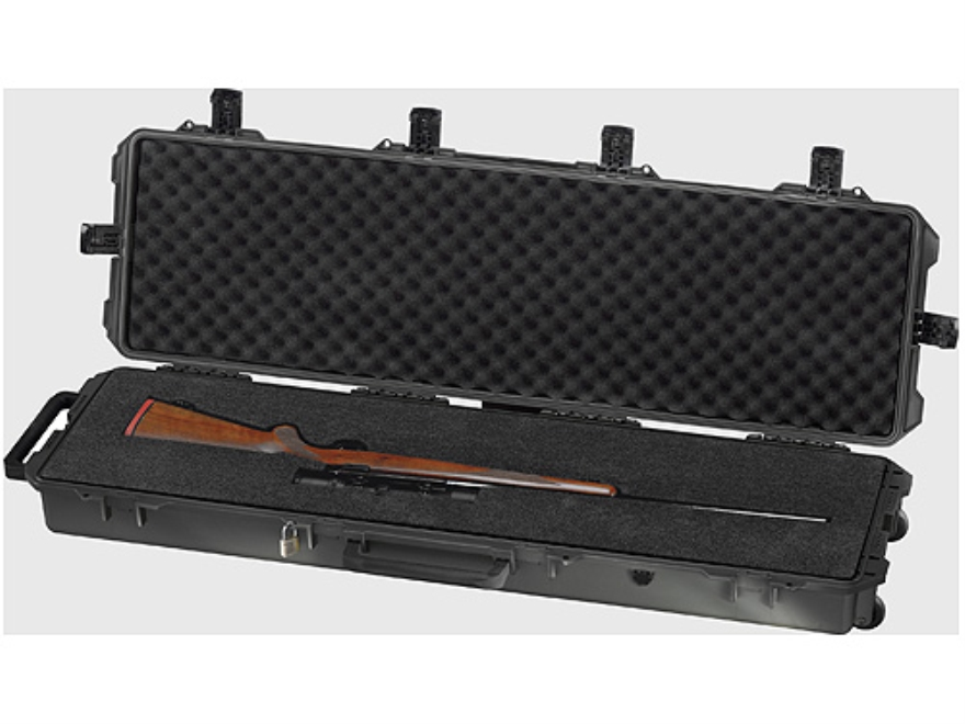 "Pelican Storm Single M16 or M4 iM3300 Rifle Case with Pre-Scored Foam Insert 53-4/5"" x 16-1/2"" x 6-3/4"" Polymer"