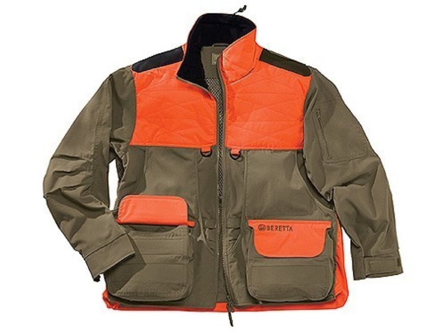 Beretta Men's Cordura Field Jacket Cotton and Cordura Tan and Blaze Orange Medium 39-41