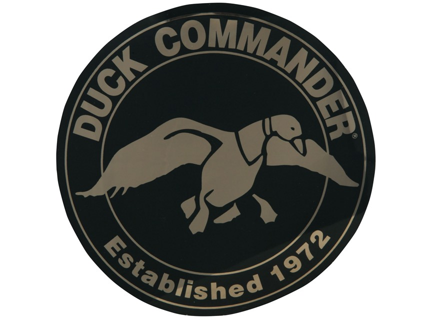 "Duck Commander 4"" Round Decal Green and Gold"