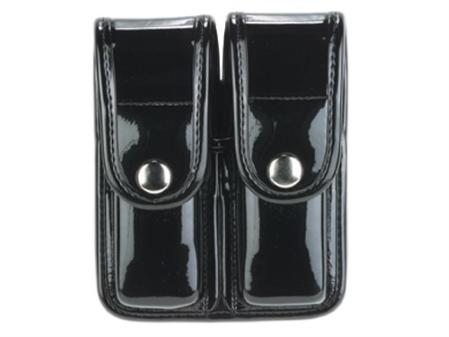 Bianchi 7902 AccuMold Elite Double Magazine Pouch Double Stack 9mm, 40 S&W Chrome Snap Trilaminate Black