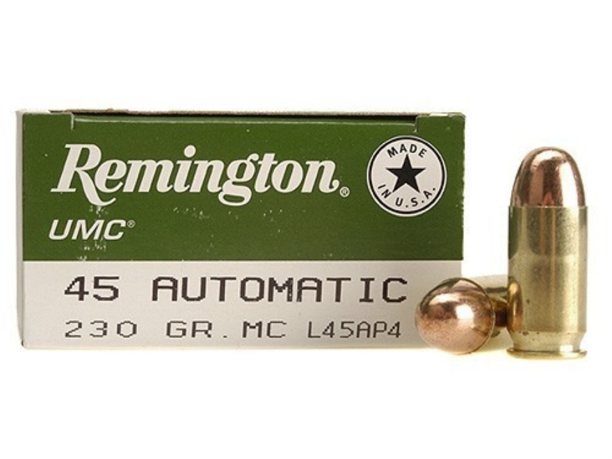 Remington UMC Ammunition 45 ACP 230 Grain Full Metal Jacket