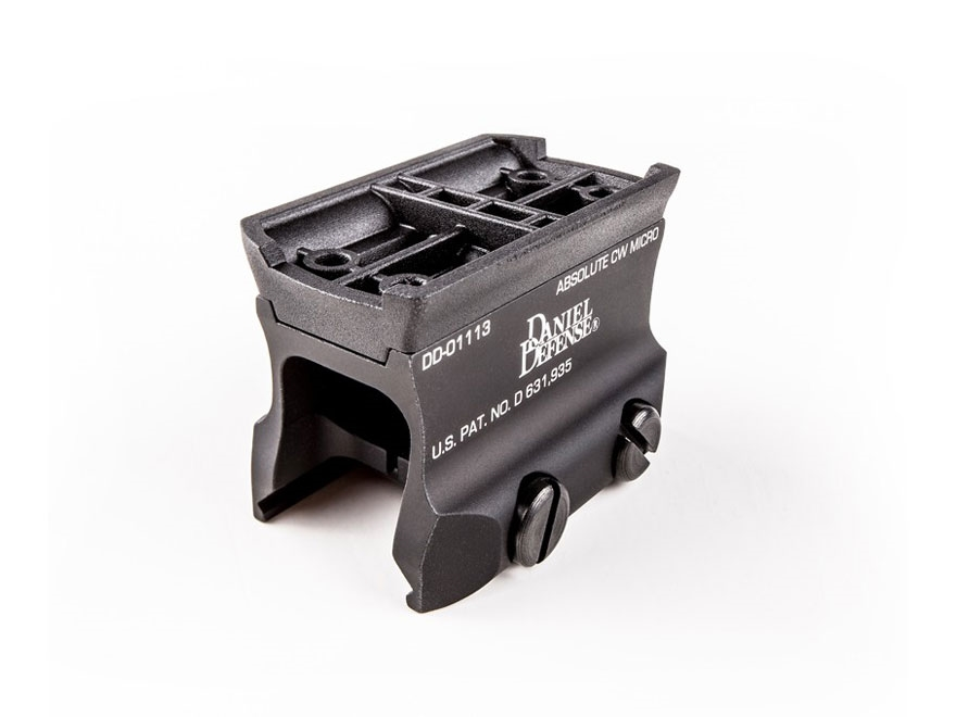 Daniel Defense Aimpoint Micro T-1, T-2, H-1 Sight Mount Absolute Co-Witness Matte
