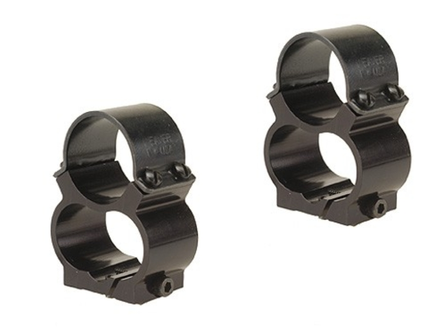 "Weaver 1"" Steel Lock See-Thru Ring Mounts Ruger 77/22, 77/44, Mini-14, Mini-30"