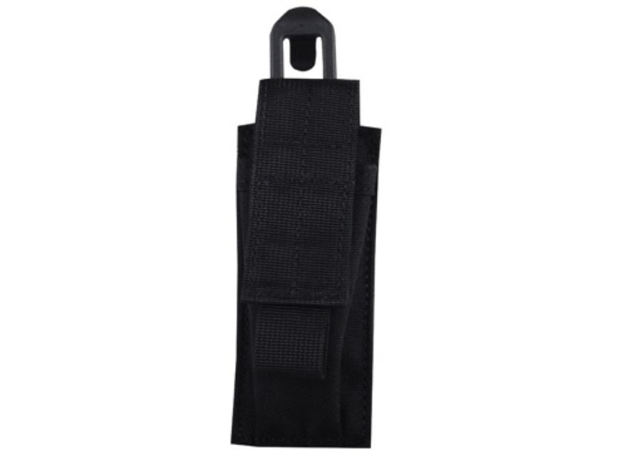 BLACKHAWK! STRIKE Single Magazine Pouch Double Stack 9mm 40 S&W with Speed Clip Nylon Black