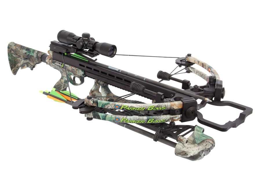 Parker Gale Force Perfect Storm Crossbow Package with Multi Reticle Illuminated Crossbow Scope Realtree Advantage Timber Camo