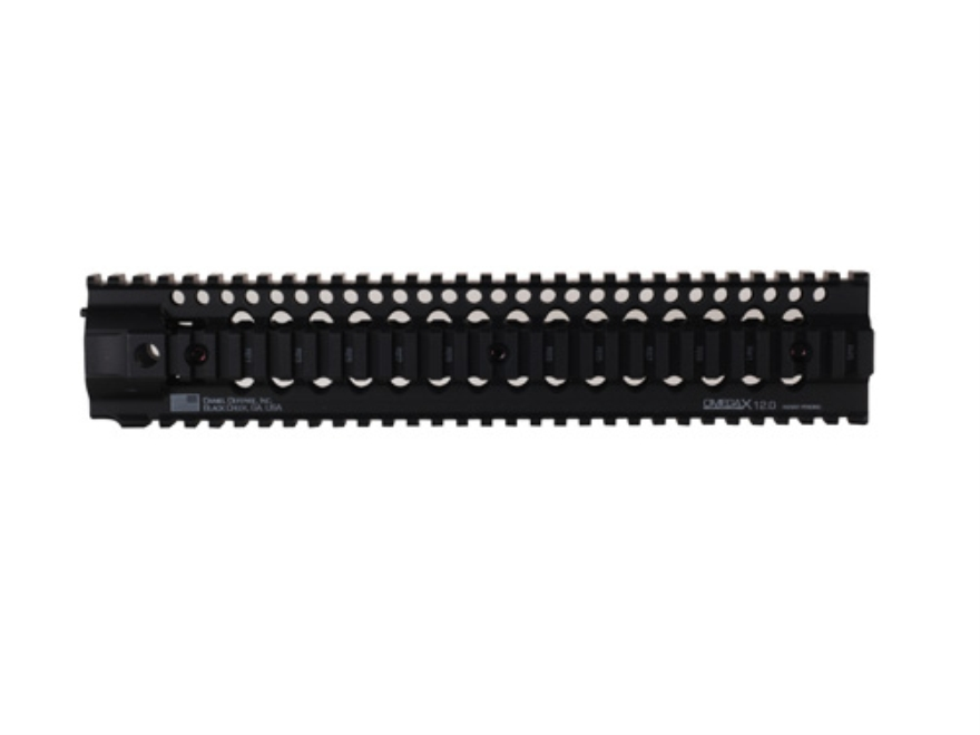 Daniel Defense Omega X 12.0 Free Float Tube Handguard Quad Rail AR-15 Rifle Length Aluminum Black