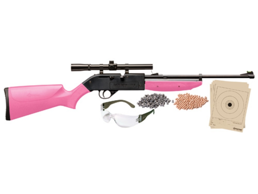 Crosman Pumpmaster Pump Air Rifle 177 Caliber Pellet Kit Polymer Stock Pink Blue Barrel