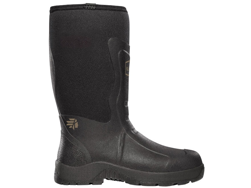"LaCrosse Mudlite 12"" Waterproof Uninsulated Hunting Boots Rubber and Neoprene Black Men's 7 D"