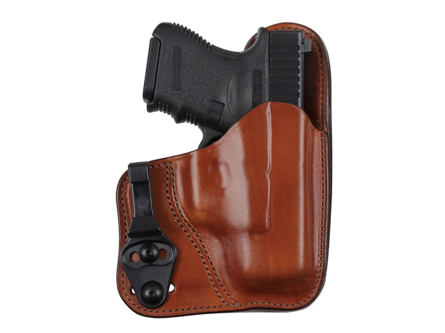 Bianchi 100T Professional Tuckable Inside the Waistband Holster Colt 1911 Officer, CZ 75 Compact Leather Tan