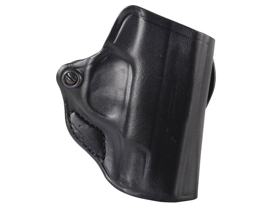DeSantis Mini Scabbard Outside the Waistband Holster S&W M&P Bodyguard 380 Leather