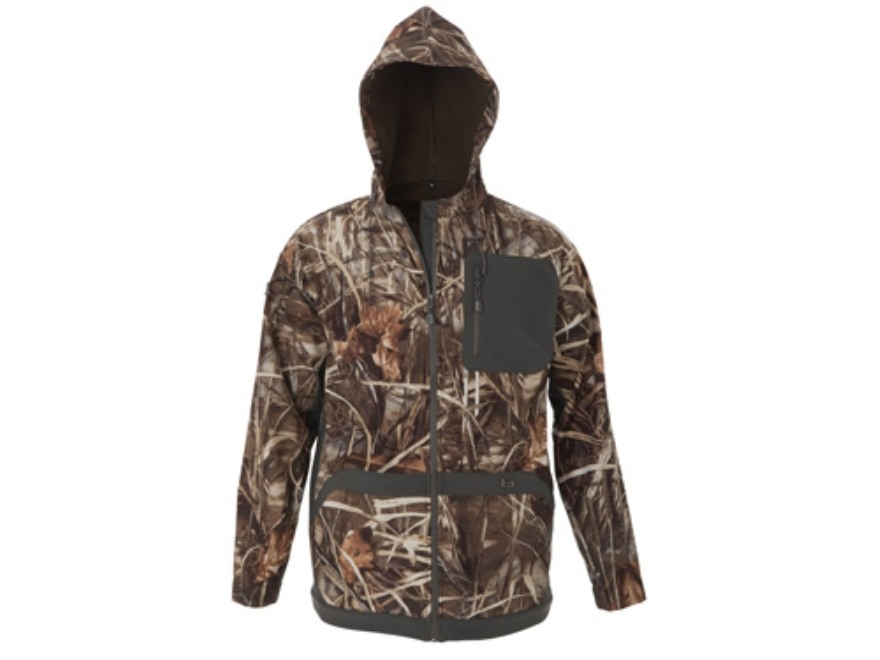 Banded Men's Gas Softshell Hooded Jacket Polyester Realtree Max-4 Camo Large