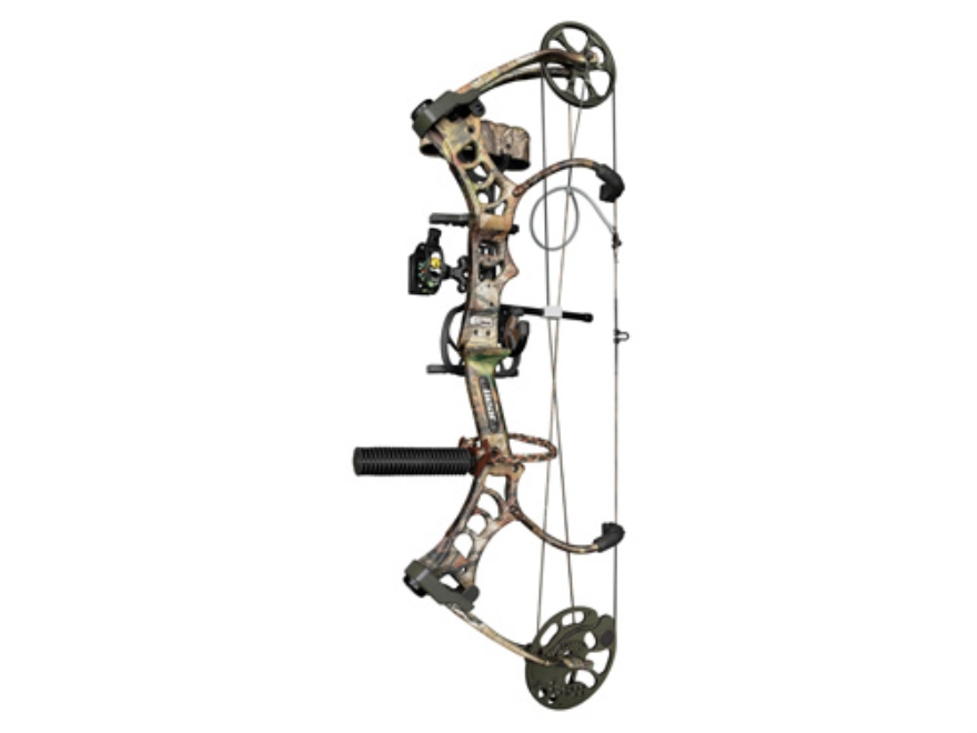 "Bear Legion RTH Compound Package Bow Right Hand 50-60 lb. 26""-31"" Draw Length Realtree APG Camo"