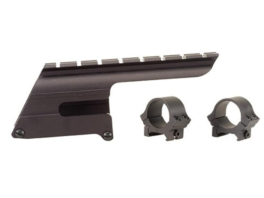 "B-Square Shotgun Saddle Mount with 1"" Rings Browning Gold 12 Gauge and Winchester Super X 2 12 Gauge 3-1/2"" Matte"