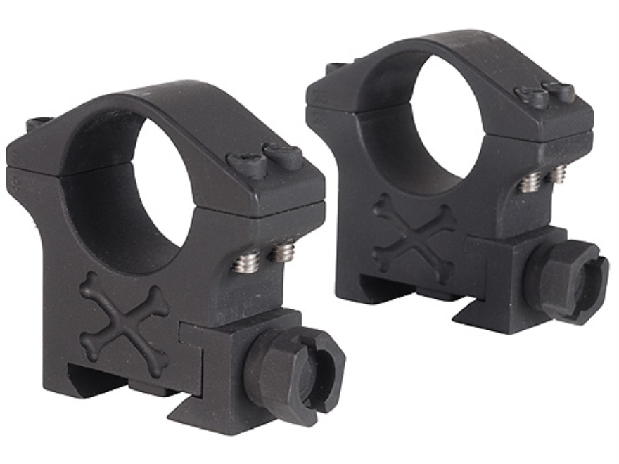 "Talley 1"" Tactical Picatinny-Style Rings Matte (Black Armor)"