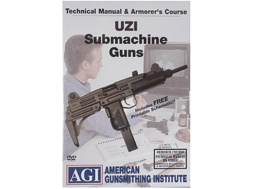 "American Gunsmithing Institute (AGI) Technical Manual & Armorer's Course Video ""Uzi"" DVD"