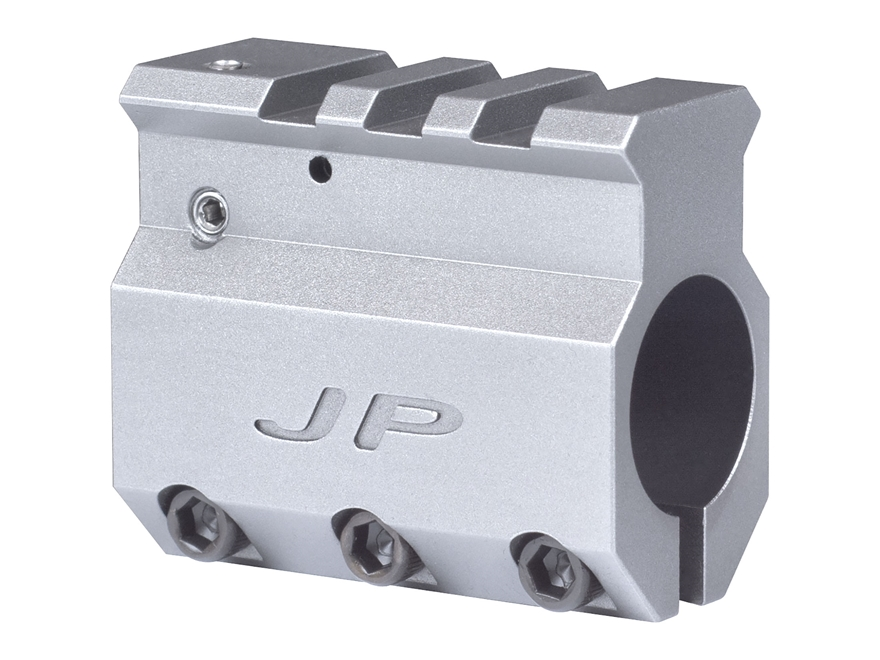 "JP Enterprises Adjustable Gas Block Picatinny Rail Sight Mounting AR-15, LR-308 Standard Barrel .750"" Inside Diameter Stainless Steel"