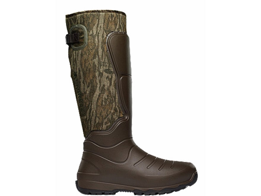 "LaCrosse 7mm Aerohead 18"" Waterproof Insulated Hunting Boots Polyurethane Clad Neoprene Mossy Oak Bottomland Camo Men's"