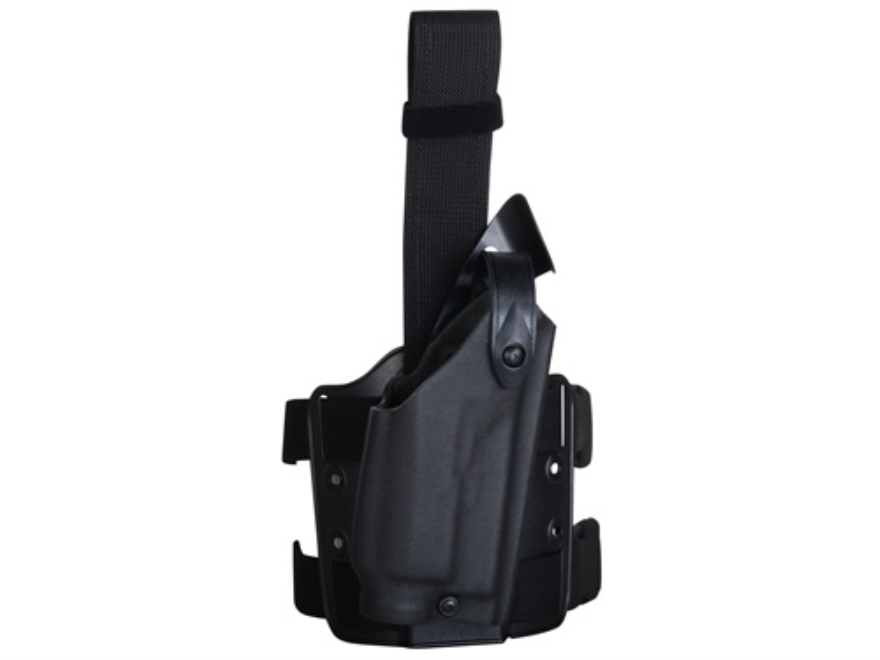 Safariland 6004 Tactical Drop Leg Holster Right Hand Glock 17, 22 with Streamlight M6 Polymer Black