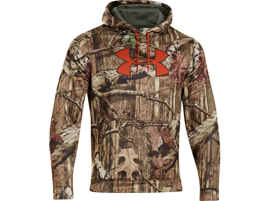 Under Armour Men's Big Logo Hooded Sweatshirt Polyester Mossy Oak Break-Up Infinity Camo 2XL 50-52