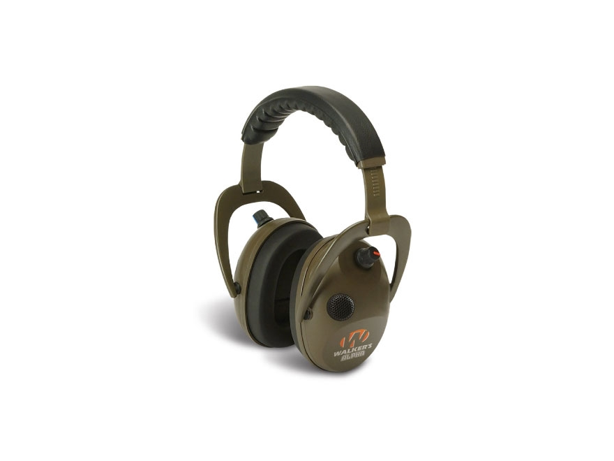 Walker's Alpha Power Muffs Electronic Earmuffs (NRR 24dB) D-Max Green