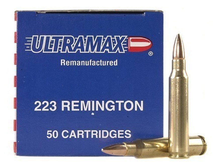 Ultramax Remanufactured Ammunition 223 Remington 55 Grain Full Metal Jacket Box of 250